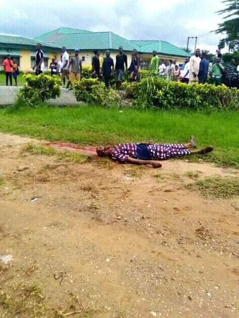Graphic Photos:CRUTECH Student Brutally Murdered By Rival Cult Members 13