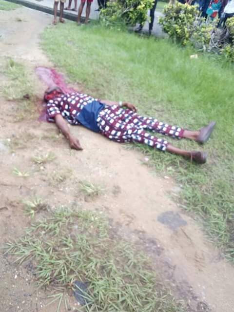 Graphic Photos:CRUTECH Student Brutally Murdered By Rival Cult Members 12