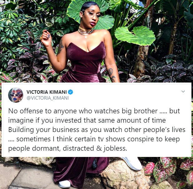 Victoria Kimani Lashed For Saying Big Brother Naija Keeps People Distracted And Jobless 3