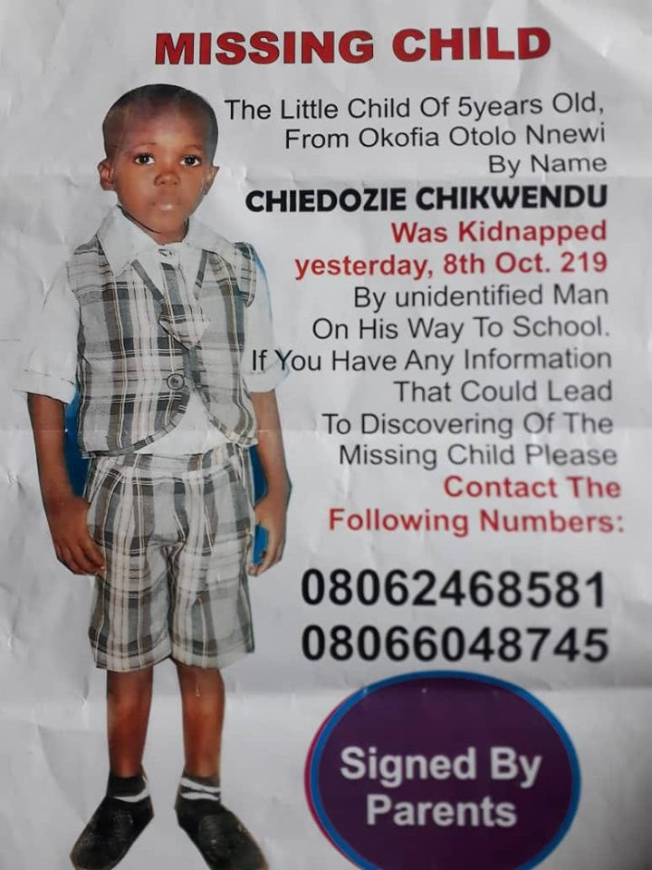 Photo : 5 Year Old Boy Abducted In Nnewi 3