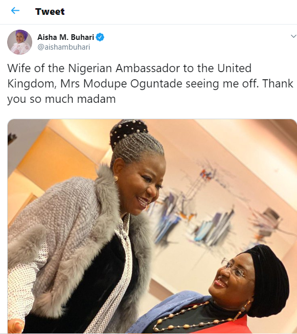 After Two Months In UK , Aisha Buhari Returns To Abuja 6