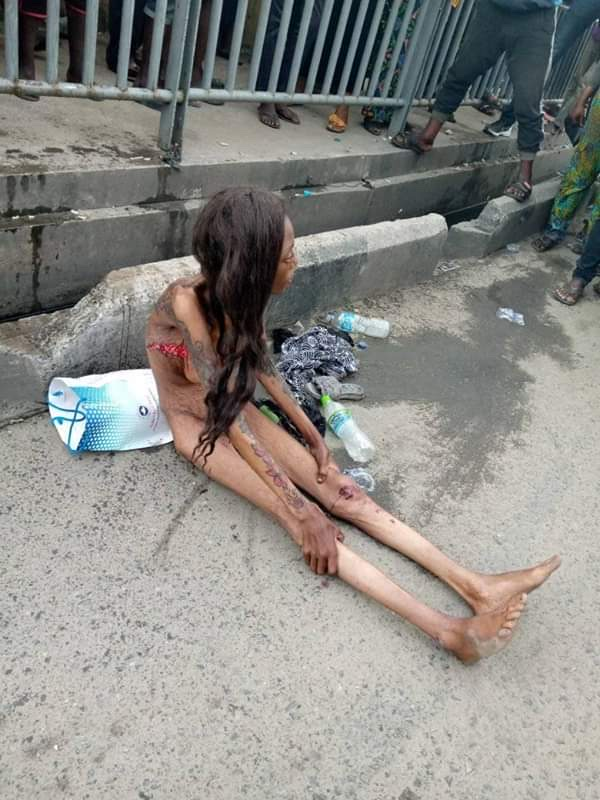 Tattooed Unclad Lady Thrown Out Of A Moving Car In Lagos (Photos) 13