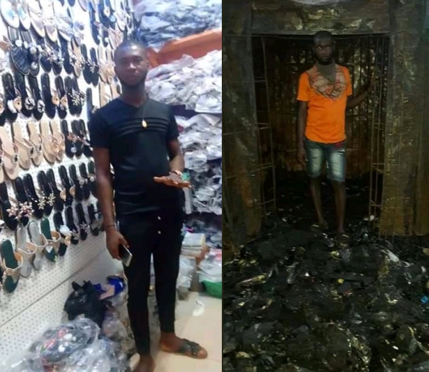 Sad Photos Of Man's Before And After Explosion In Onitsha 7