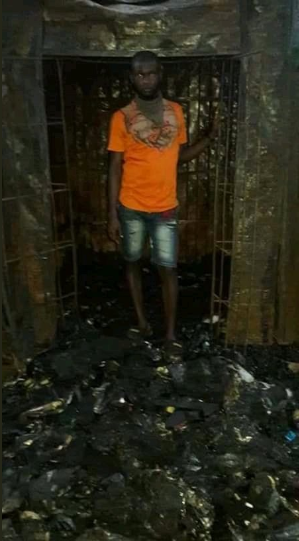 Sad Photos Of Man's Before And After Explosion In Onitsha 9
