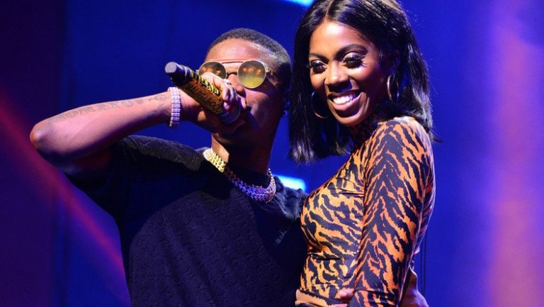 Wizkid And Tiwa Savage Share Kiss On Starboy Fest Stage (Video)