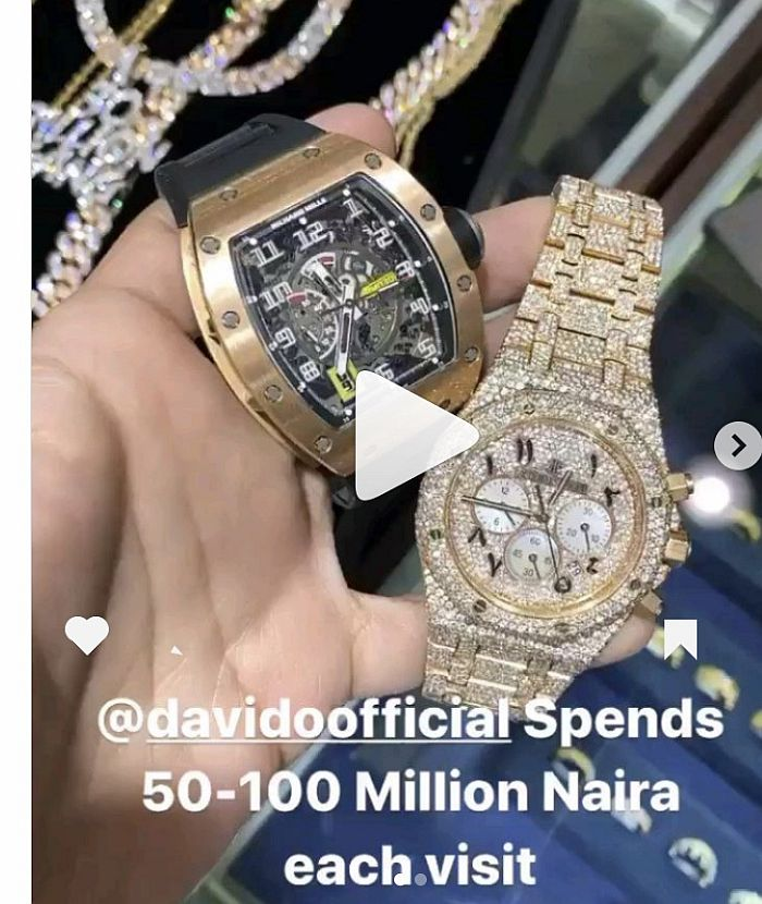 Davido Spends N50 To 100Million Anytime He Comes Shopping — Icebox