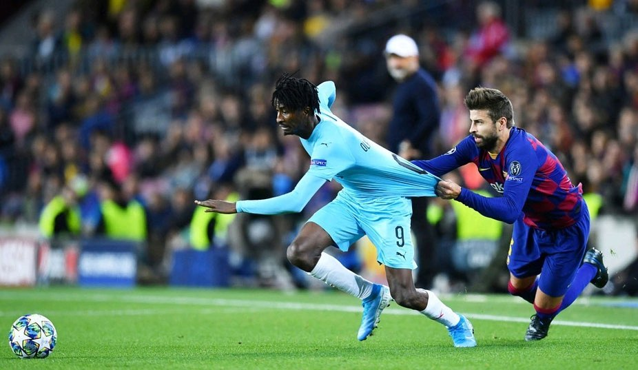 Olayinka play against Barcelona in ucl