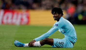 Man saved by Paul Okoye play against Barcelona