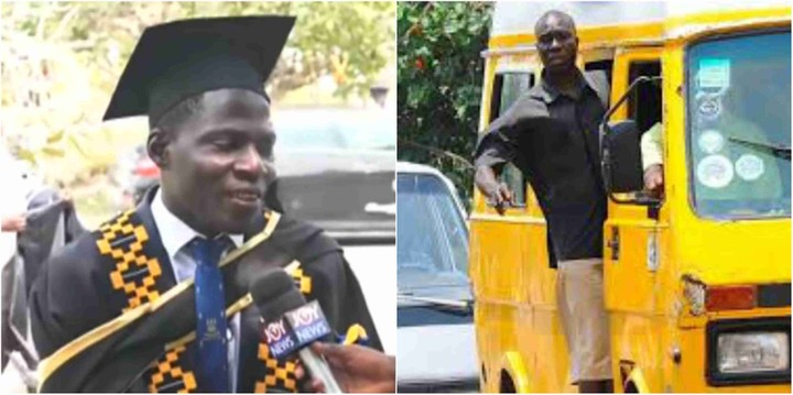 Ghanaian Bus Driver Graduates From University With First Class (Video)