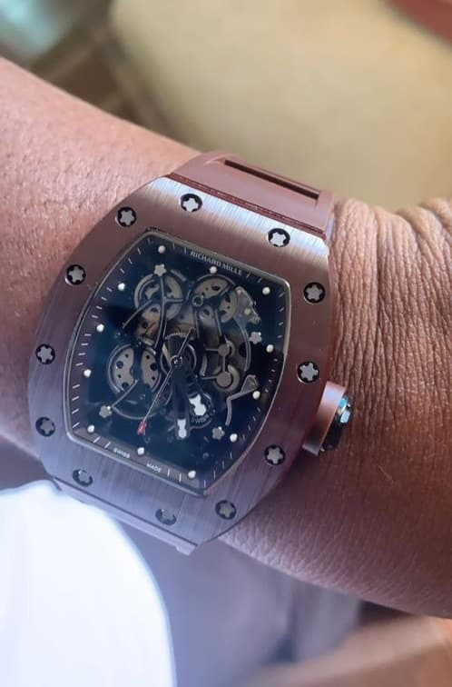 Wizkid Gifts N40million Richard Mille Wristwatch To His Manager (Video) 6