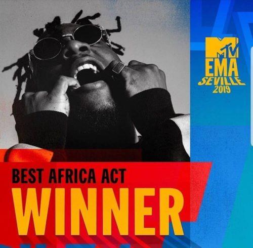Burna Boy Wins 'Best African Act' At 2019 MTV EMA