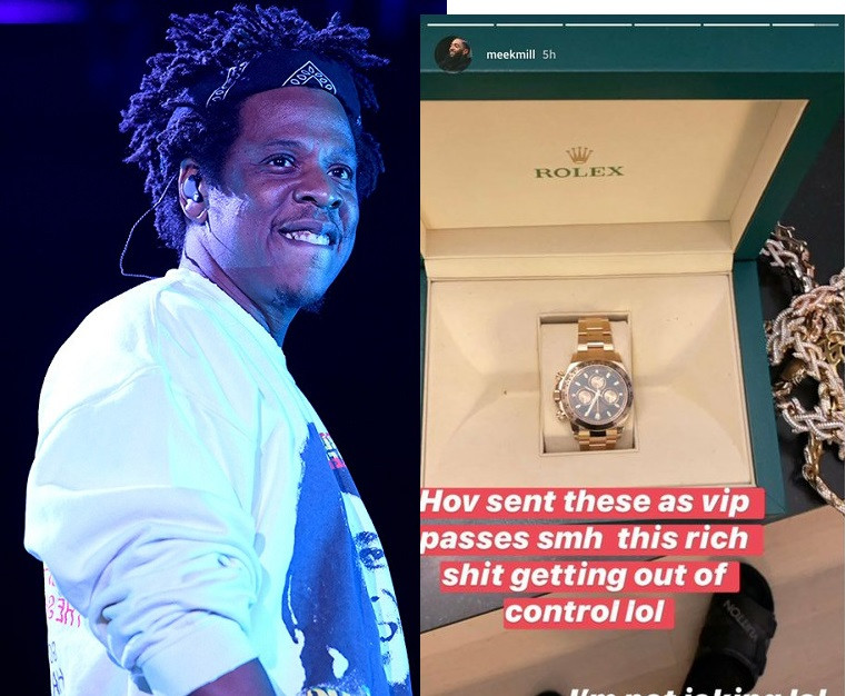 JAY-Z Sends $40K Rolex To Meek Mill, Swizz Beatz & Others As VIP Pass To His Show (See Photos)