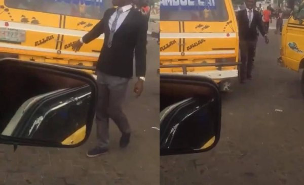 Bus conductor Seen In Suit And Tie In Lagos (Video)