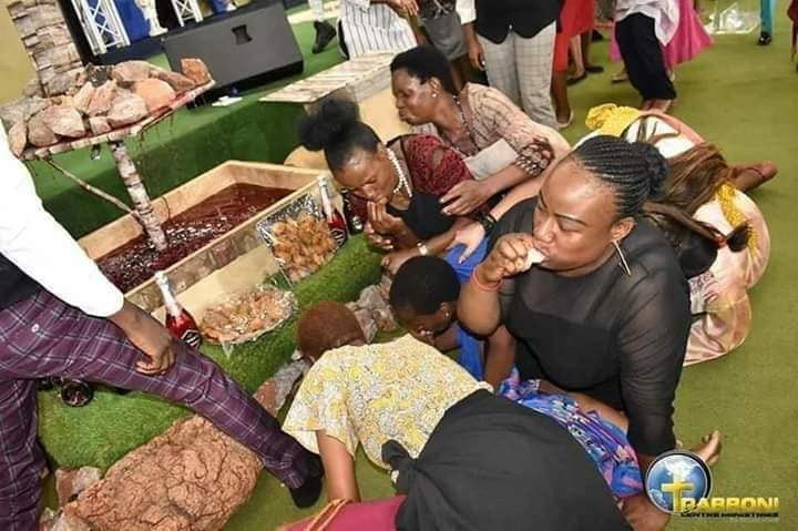 Popular Pastor Feeds His Church Members Millipede And Beer (Photos)