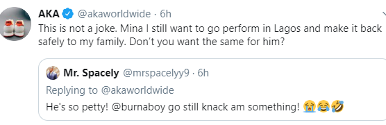 """""""You Say You're An African Giant, Prove It"""" — AKA Urges Burna Boy To Apologize To South Africans 9"""