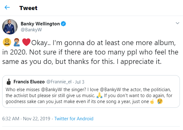 Banky W To Drop New Album In 2020