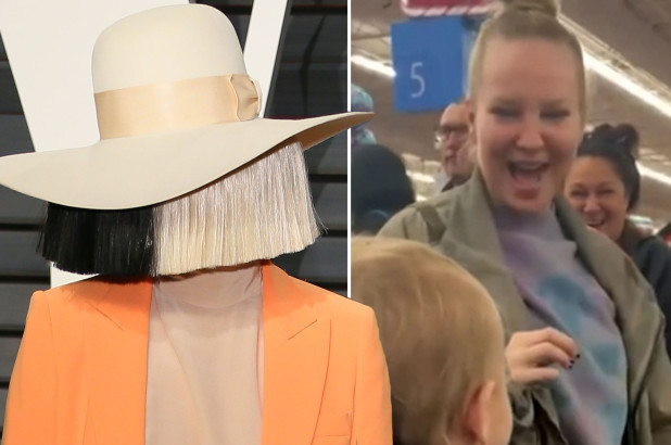 Sia takes off her famous wig to pay for everyone's groceries at Walmart