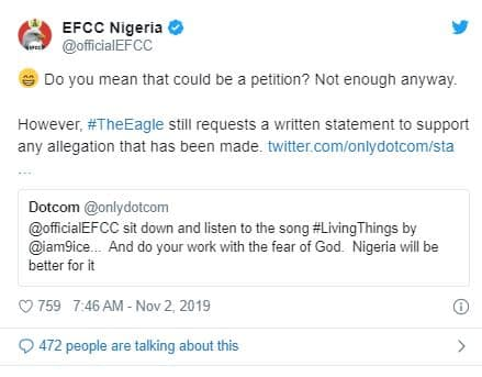 EFCC Ready To Go After Hushpuppi, Others Mentioned In 9ice's 'Living Things'