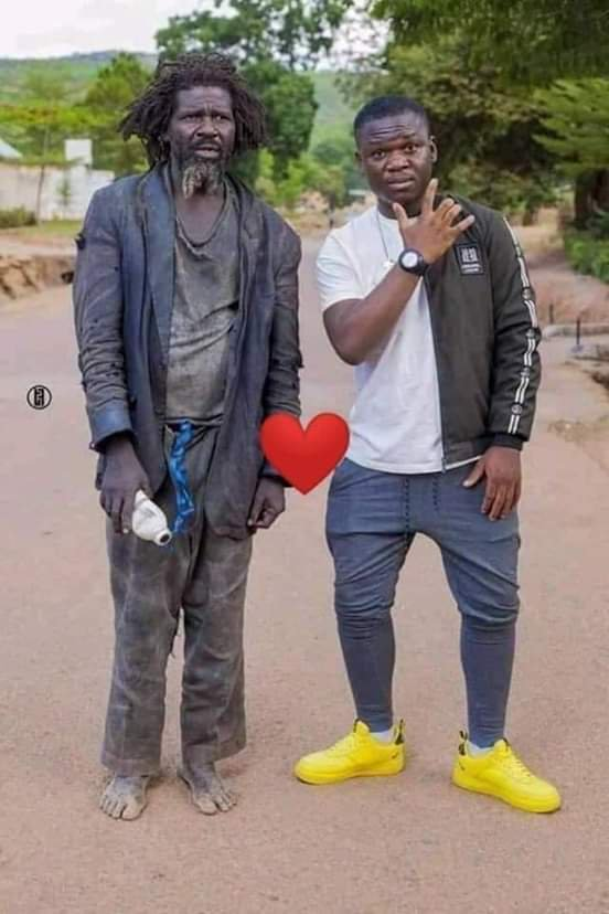 Young Man Takes Picture With His Mentally Unstable Father, Shares The Picture Online (Photo)