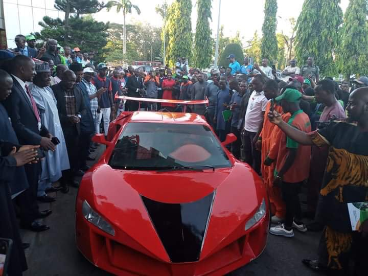 25-Year-Old Nigerian Man Manufactures The Country's First 'Carbon Fibre' Sports Car (Photos)