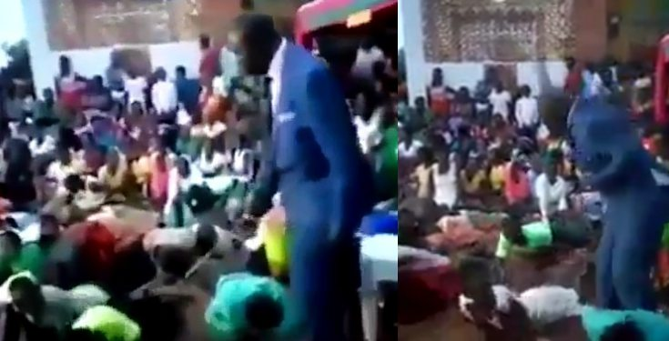 Pastor flogs church members for not attending service (video)