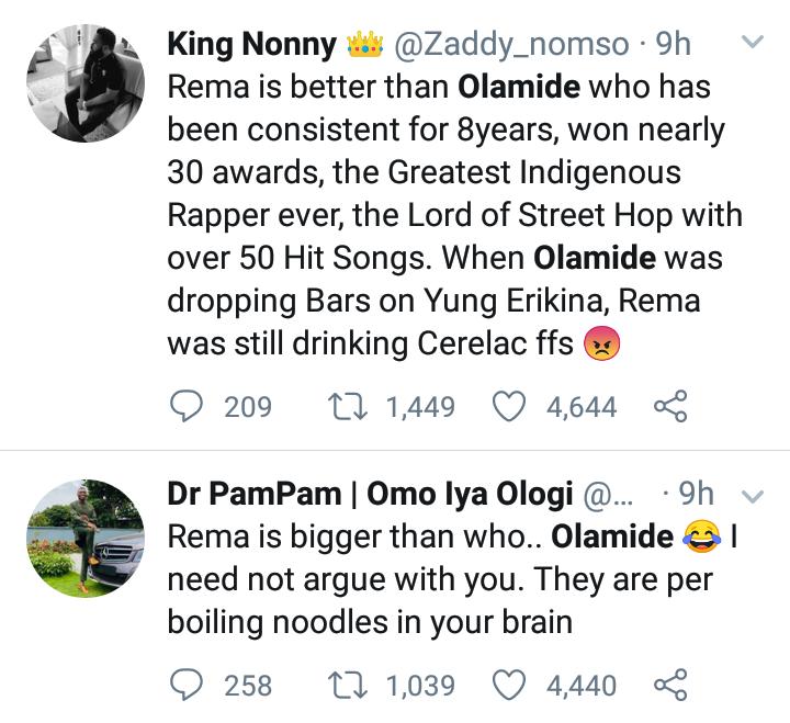 """Rema Is Bigger Than Olamide"" — Nigerian Man Says 9"