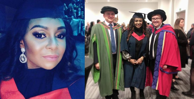 Victoria Inyama bags a degree from University of East London (Photos/Video)