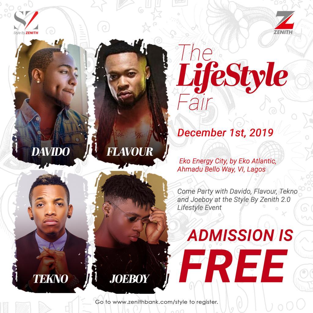 Jidenna, Tekno, Davido, Flavour, Joeboy Billed To Perform At Zenith Lifestyle Fair