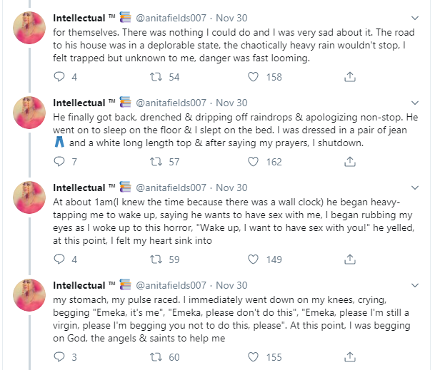 Nigerian Lady Calls Out Her Coursemate Who 'Raped' Her 10