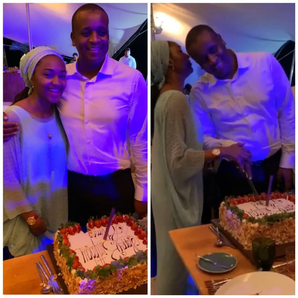 Photos From Zahra Buhari's Husband's Birthday Dinner In Mauritius