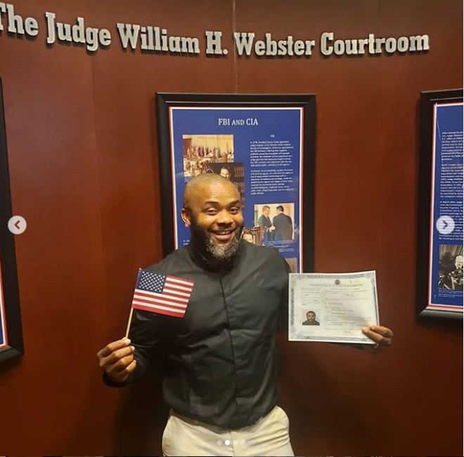 Nollywood Actor, Johnpaul Nwadike Is Now A US Citizen