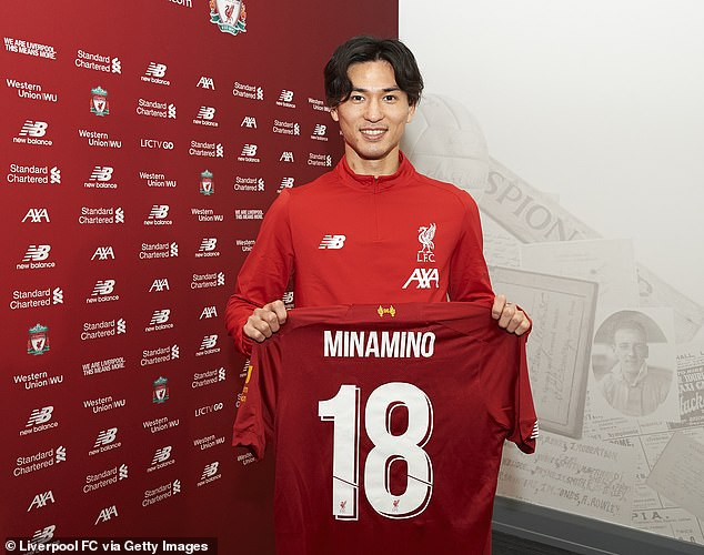 Liverpool Signs RB Liepzig's Minamino For £7.25m (Photos)