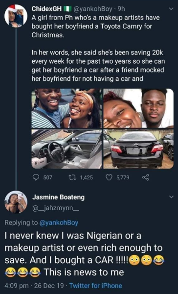 Lady Whose Picture Circulated On Social Media With Claims That She Saved For 2 Years And Bought Her Boyfriend A Car DENIES Doing Such 13