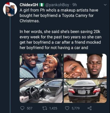 Lady Whose Picture Circulated On Social Media With Claims That She Saved For 2 Years And Bought Her Boyfriend A Car DENIES Doing Such 12