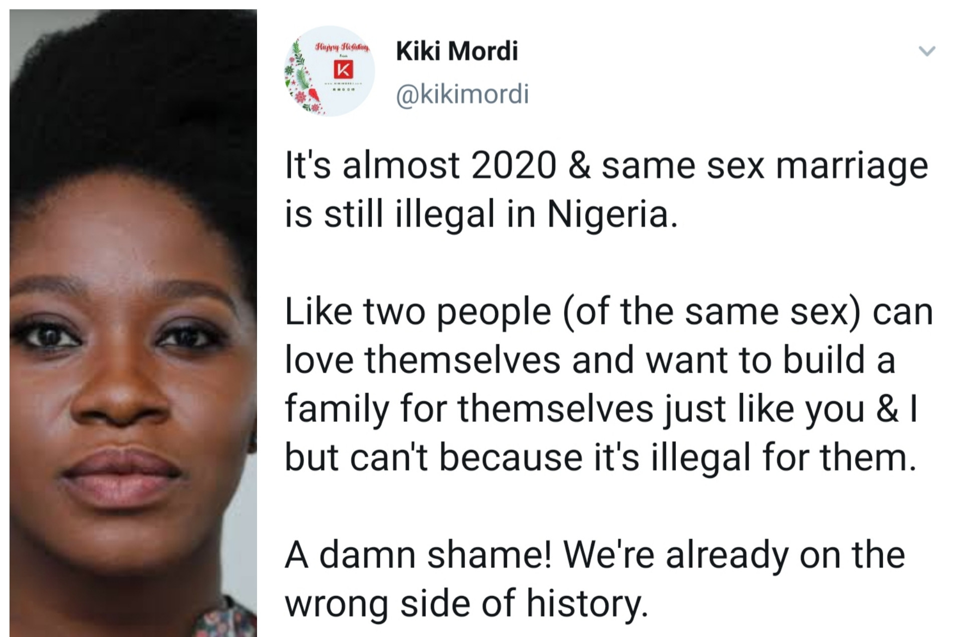 It's Shameful That Same S•x Marriage Is Still Illegal In Nigeria — Journalist Kiki Mordi