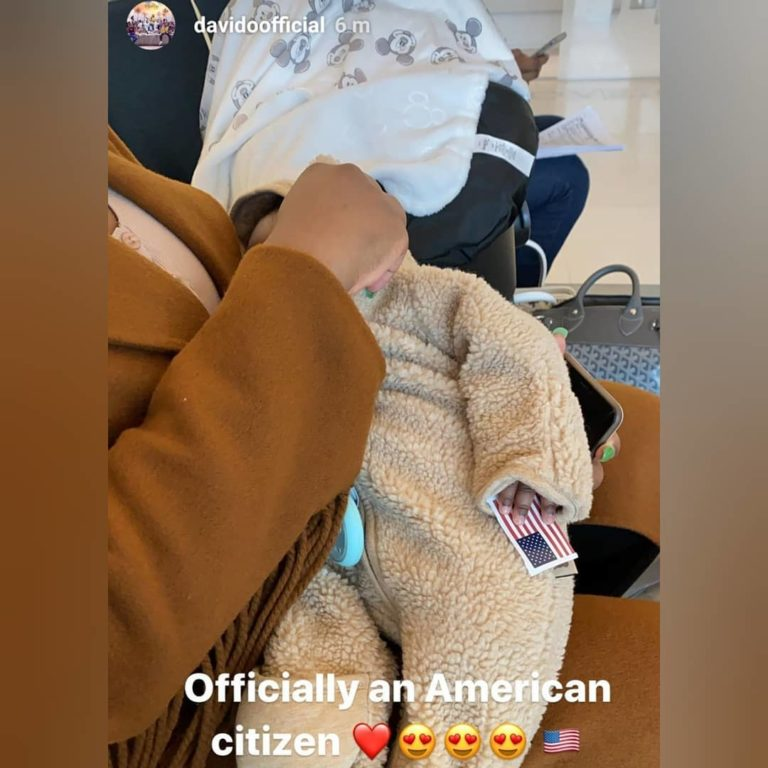 Davido's Son, Ifeanyi Adeleke Jnr Officially Becomes A Citizen Of The US