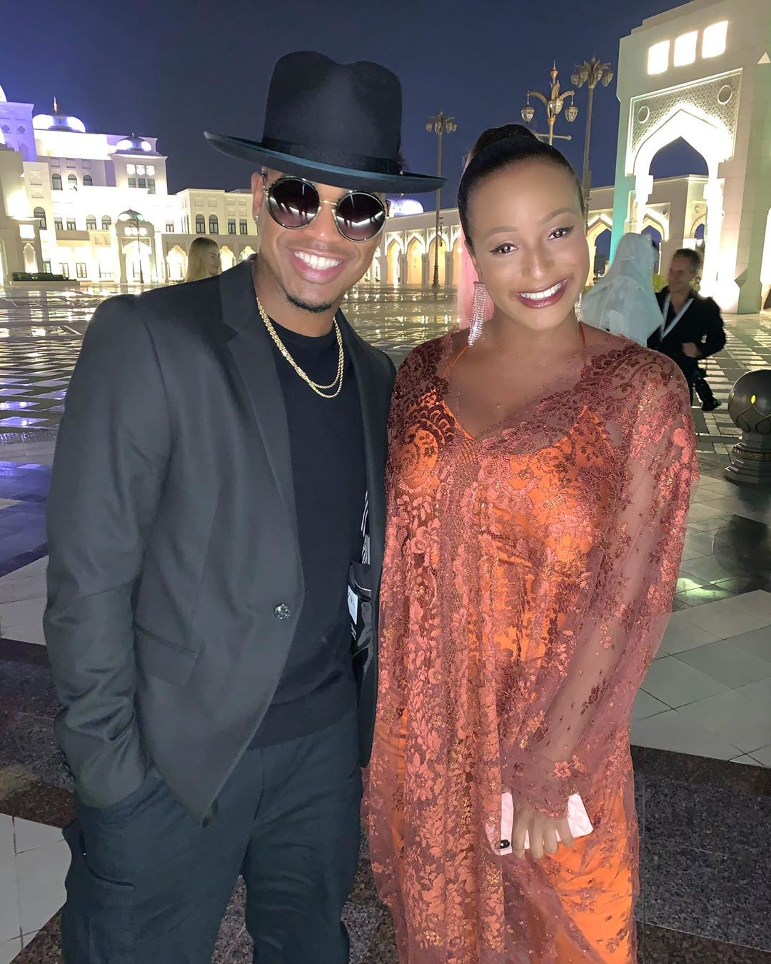 DJ Cuppy Meets With Neyo In Abu Dhabi (Photo)