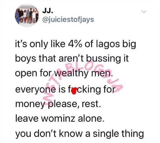 '96% Of Lagos Big Boys Are Sleeping With Married Men' – Nigerian Artist, Lato