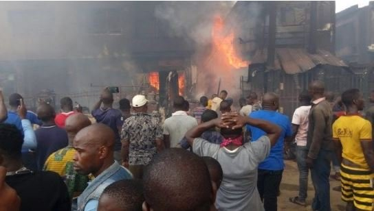 15 Shops Destroyed In Fresh Fire Outbreak At Lagos Market