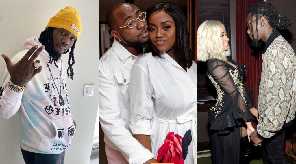 Davido Rubbishes Cardi B's Husband, Offset For Insulting His Wife-To-Be, Chioma