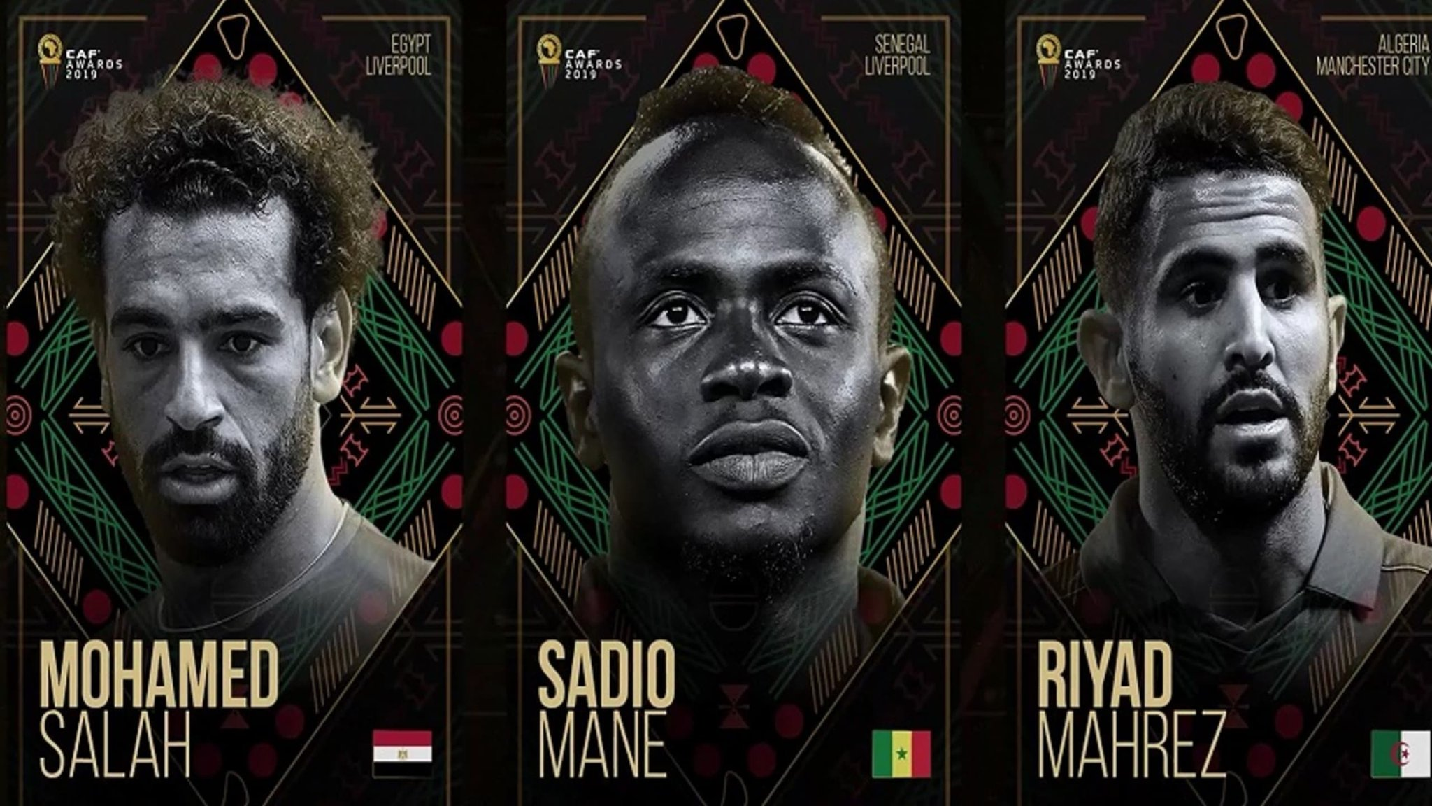 Mane, Salah and Mahrez Are The Final Three Contenders For 2019 African Player of the Year