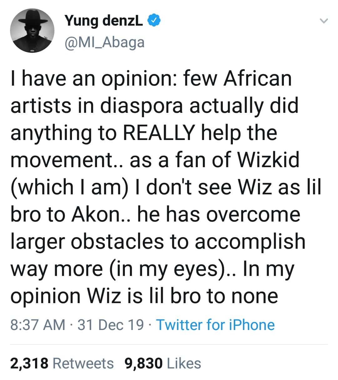 """""""Wizkid Is Lil Bro To None"""" - MI Abaga Shuns Akon For Calling Wizzy His Little Brother 9"""