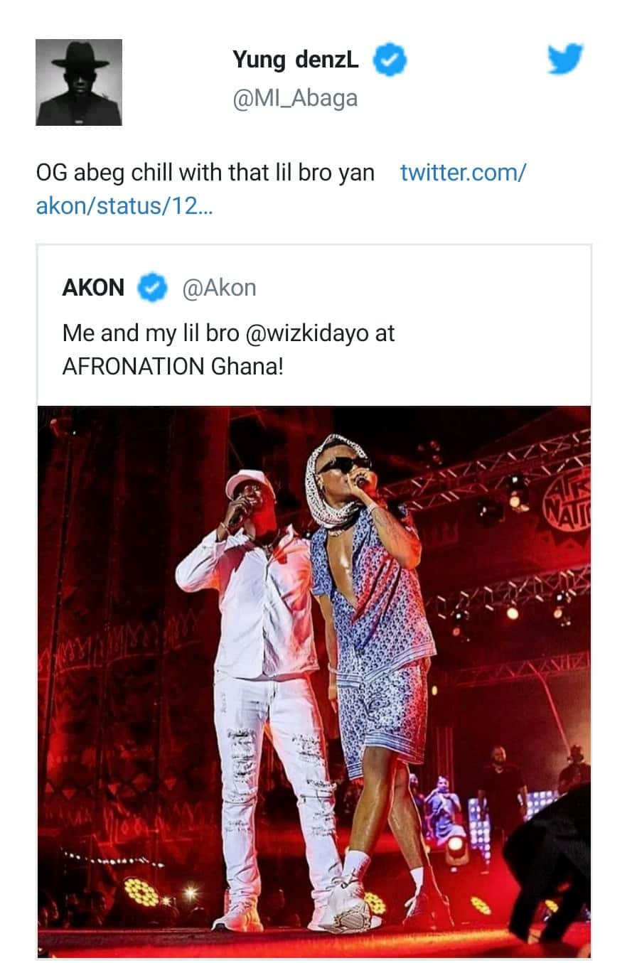 """""""Wizkid Is Lil Bro To None"""" - MI Abaga Shuns Akon For Calling Wizzy His Little Brother 8"""