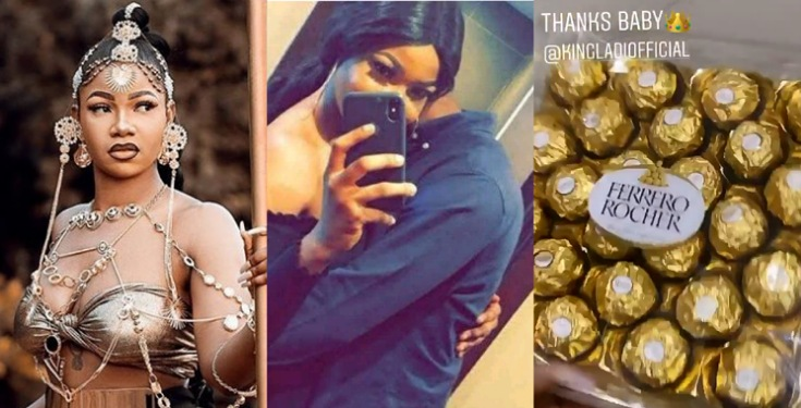 See The Gift Tacha Got From Her Boyfriend King Ladi On Her 24th Birthday (Photos)