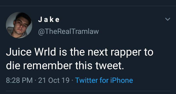 Meet Young Man Who Tweeted About Juice WRLD's Death A Month Ago