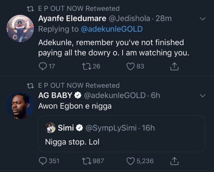 Mum Calls Out Adekunle Gold For Not Paying Up Simi's Bride Price
