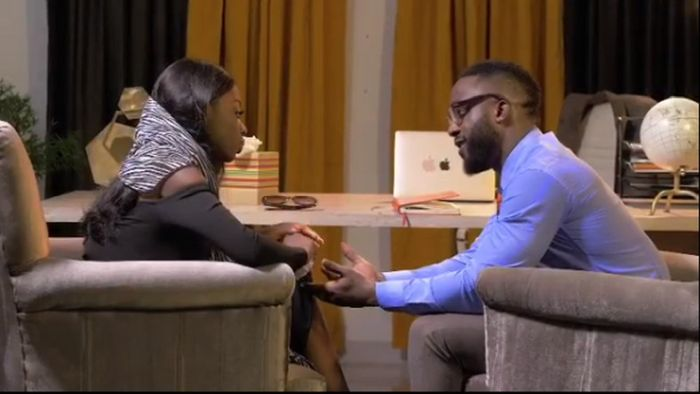 Diane Shares Passionate Kiss With Iyanya In Her Debut Nollywood Movie 'The Therapist' (Video)
