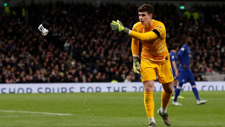 Tottenham Fan Who Threw Cup At Chelsea's Kepa Has Been BANNED