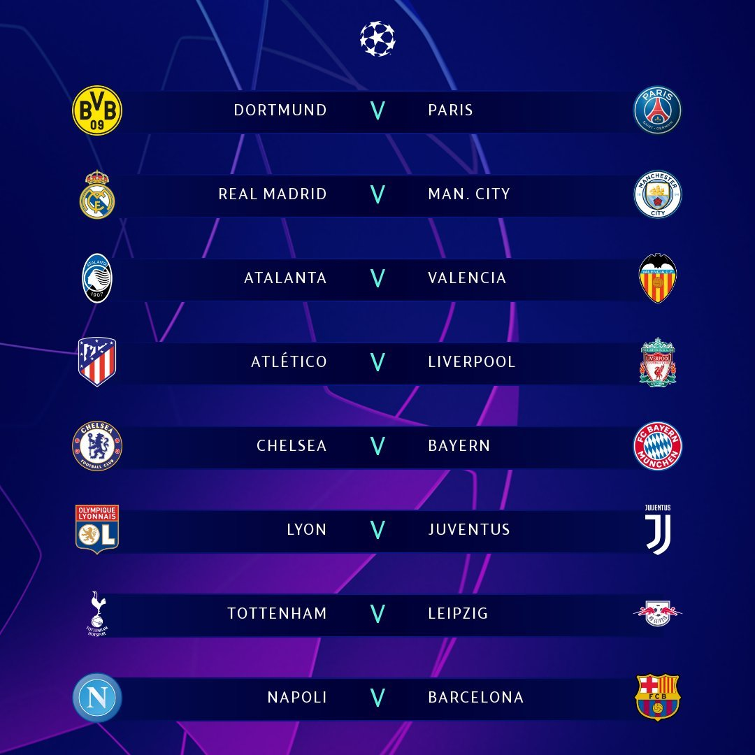 #UCLDraw: See Complete Fixtures as Defending Champions to Play Atletico Madrid 12