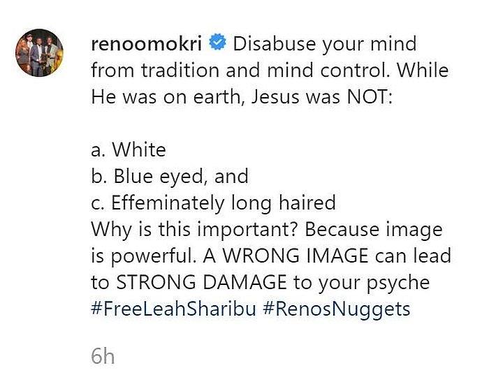 """Jesus Christ Was Not White"" – Reno Omokri"